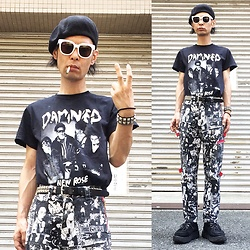 @KiD - The Damned New Rose ?, Dogpile Bondage Pants, George Cox Rubber Sole, Funk Plus Studs Bracelet, Funk Plus Studs Belt - Japanese Trash179
