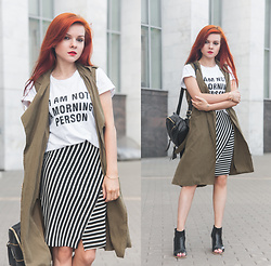 Anya Dryagina - Sammydress Peep Toe Shoes, Yoshop Backpack - I аm not a morning person