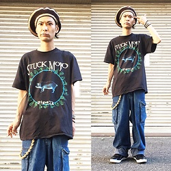 @KiD - Stuck Mojo, Rrl Baggy, Air Walk The One, Funk Plus Studs Bracelet - Japanese Trash180