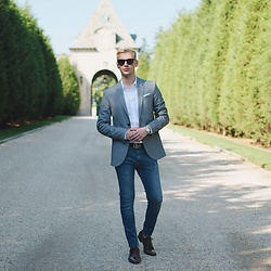 Piotr Ryterski - Gucci Belt, Aldo Shoes, Ray Ban Sunglasses, Longines Watch, Zara Blazer, Topman Shirt, Topshop Jeans - Blank space vibes (ig itspiotr)
