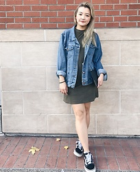 Haley D. - Forever 21 Denim Jacket, Zara Suede Rib, Opening Ceremony Clutch, Vans Shoes - Casual