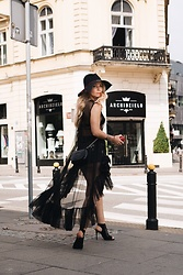 Ewa Szabatin - Zara Dress, Gucci Bag, Zara Shoes, Oysho Hat - City Boho Girl