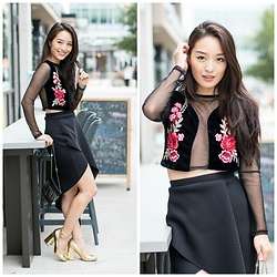 Kimberly Kong - Asos Asymmetrical Drape Skirt - Cute Date Night Outfit Ideas FTW