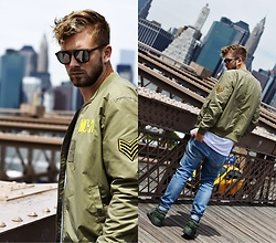 Lukasz Podlinski - C&A Jacket, C&A Jeans, Adidas Shoes - NYC look