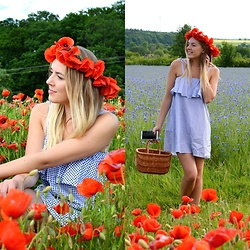 Jessica N. - Mohito Dress, Handmade Basket - Poppies