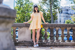 Nikita Wong - Zara Checked Dress - Little Yellow Dress
