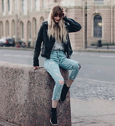 Mary Volkova - Zaful Jeans, Stradivarius Jacket, Nike Sneakers - EVERY DAY