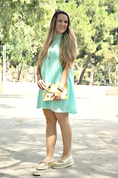 Emma MAS - Forever 21 Mint Dress - Mint dress, pineapples cutch