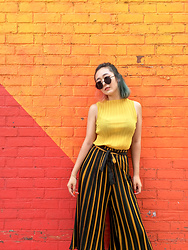 Smexy Shadow - Zaful Yellow Top - Yellow