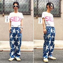 @KiD - Vivienne Westwood Sex, Vivienne Westwood Star And Orb Pants, Vans Marc Jacobs, Funk Plus White Bracelet - Japanese Trash196