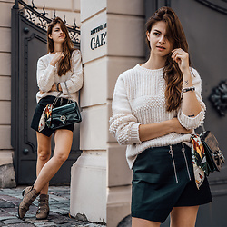 Jacky - Marks & Spencer Sweater, Gucci Bag, Zara Skirt - Skirt and Chunky Sweater