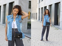 Ranim H. - French Connection Denim Vest - Denim Love