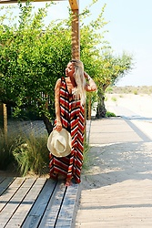 Masha Kiseleva - Zara Beach Maxi Dress, Lavanda Straw Hat - Country Side