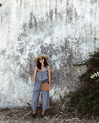 Tiffany Wang - Urban Outfitters Crop Top & Pants, Lack Of Color Hat - TOUCHDOWN IN GREECE