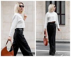 Jasmin Kessler - Coccinelle Bag, More Pictures Here: - WHITE LEATHER TOP /W COCCINELLE BAG
