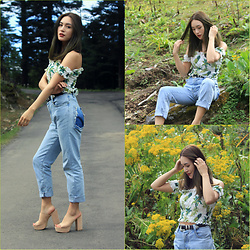 Chyuni Doll - Charleskeith Block Mule, Levis Momjeans - Blending in with greens