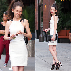 Claire H - Gianvito Rossi Lace Heels, Karl Lagerfeld Clutch, Zara Dress (Old) - Little White Something