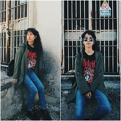 Vanessa Rossi - Emp Slipknot T Shirt, Shein Jacket - Super Comfy Outfit