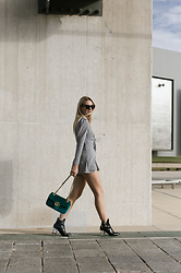 Veshion Life - Urban Outfitters Romper, Gucci Bag, Jeffrey Campbell Shoes Boots, Celine Sunnies - Last Sunshine