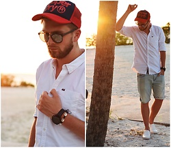 Lukasz Podlinski - Superdry Shirt, Superdry Pants, Reserved Shoes, Superdry Cap - Floridian look