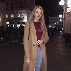 Dasha - Pull & Bear Coat, H&M Pullover, H&M Jeans - Autumn
