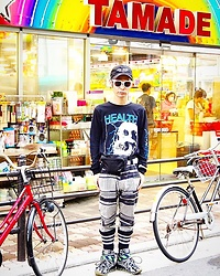 @KiD - (K)Ollaps New Wave, Alien Body Health, Rvca Waist Porch, Shoop Clothing Pc Crush Pattern Pants, Funk Plus White Bracelet, Camper Bernhard Willherm - JapaneseTrash209