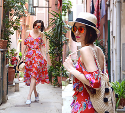 Daisyline . - Forever 21 Dress, Oysho Hat, Pull & Bear Backpack - Summer look - Cinque Terre / www.daisyline.pl