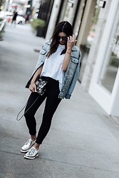Flaunt and Center - Denim Jacket, Oxfords - Fall denim