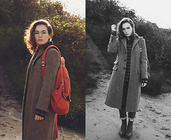 Silvy De Jong - Eastpak Backpack, Polo Ralph Lauren Coat - Warm in wool