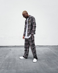 Martell Campbell - Mont Blanc Sunglasses, Eytys Sneakers, River Island Pijama Style 2 Piece, River Island X Ashish 2 Piece - #RIxASHISH