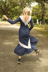 Jamie Matherly - Vintage Prairie Dress, Vans Sk8 Hi - Say Your Prairies