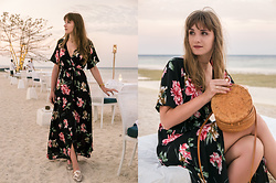 Tiger in the Flowers - Asos Shoes, Handmade Bag, Newchic Maxi Floral Dress - Maxi floral dress