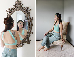 Dana Nguyen - Wet Seal Hair Chain, Jo+Jax Sports Bra - Shining, Shimmering Spendid
