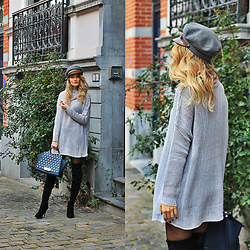 Ruxandra Ioana - Lightinthebox Sweater, Sterkowski Cap, Kendall + Kylie Over The Knee Boots, Zac Posen Bag - Reality