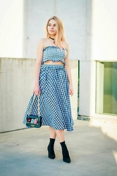 Milena Olimpia Dziewulska - Zaful Two Piece, Sammydress Bag, Second Hand Shoes - Checked look