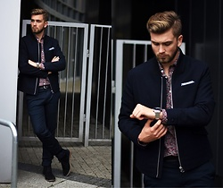 Lukasz Podlinski - Reserved Jacket, Zara Pants, Victorinox Watch - Classy