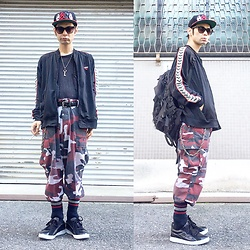 @KiD - Afterbase Japanese Hard Core Sand Cap, Marc By Jacobs Key Necklace, Rothco Red Camouflage Pants, Elephant Tribal Fabrics D Can Back Pack, Air Walk The One, Pony Jersey - JapaneseTrash221