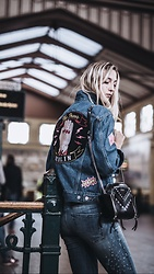 Sunita Ramic - Lala Berin & Levis Denim Jacket, Diesel Bag, Diesel Denim - Denim on Denim