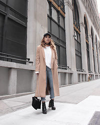 Ingrid Siadari - Aldo Boots, Urban Outfitters Suede Bag, Forever 21 Camel Coat, Uniqlo Girlfriend Jeans - Camel Coat