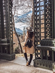 Katherine Adamenko - Zara Backpack, American Apparel Hat - Power of nature