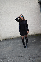 P&P Nororre - Guess Bottes, Boohoo Dresse - Black dress