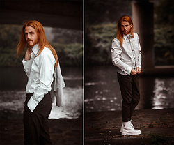 Maik - Levi's® Jacket, Allsaints Pants, Karl Lagerfeld Shirt, Dr. Martens Shoes - Under the bridge