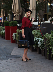 Ana Vukosavljevic - Metisu Blouse, Romwe Skirt, Picard Bag, Shoes Of Prey - How To Style A Poncho?