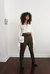Alexis Brooks - Yoneda Kasuko Cropped Blouse, American Apparel Wool Trousers, Zara Booties - YONEDA KASUKO