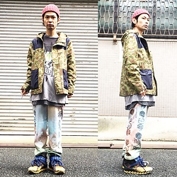 @KiD - Insight Camouflage Jacket, Cypress Hill Tee, Taimado Phychederic Sweat Pants, Camper Bernhard Willhelm - JapaneseTrash235