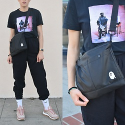 . . - Bape Crossbody, Nike Air Max, Nike Socks, Inner Wave Song 3 2017 - INNER BAPE