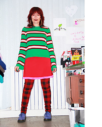 Luna Tiger - Asos Tripped Top, Claire's Chunky Bamboo Earrings, Tati Red And Pink Night Dress, Tripp Ny Tartan Slim Jeans, Doc Martens Blueberry - PERFECTION IS BORING