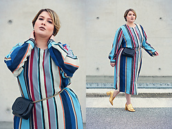 Luciana Blümlein - Marina Rinaldi Dress, Gucci Bag, H&M Shoes, Chanel Earrings - • Stripes & Gold •
