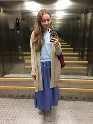 Lexa - Koton Skirt, Zolla Cardigan, Reebok Sneakers, My Hand Made Accessories - 104. Soft
