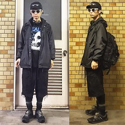 @KiD - (K)Ollaps Noise Music, Alienbody Health, Insight Black Hoodie, Toga Nylon Jacket, Code Crust Shorts, Puma Hussein Chalayan, Elephant Tribal Fabrics D Can Back Pack - JapaneseTrash239